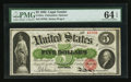Large Size:Legal Tender Notes, Fr. 61a $5 1862 Legal Tender PMG Choice Uncirculated 64 EPQ.. ...