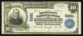 National Bank Notes:Virginia, Harrisonburg, VA - $10 1902 Plain Back Fr. 633 The Rockingham NBCh. # 5261. ...