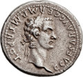 Ancients:Roman Imperial, Ancients: Gaius 'Caligula,' with Divus Augustus (AD 37-41). ARdenarius (20mm, 3.68 gm, 6h)....