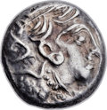 Ancients:Judaea, Ancients: JUDAEA or PHOENICIA. Imitating Athens. Ca. 4th-3rdcenturies BC. AR drachm (14mm, 4.12 gm, 8h)....