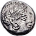 Ancients:Judaea, Ancients: JUDAEA or PHOENICIA. Imitating Athens. Ca. 4th-3rdcenturies BC. AR drachm (15mm, 4.22 gm, 9h)....