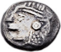 Ancients:Judaea, Ancients: JUDAEA or PHOENICIA. Imitating Athens. Ca. 3rd-2ndcenturies BC. AR drachm (14mm, 4.01 gm, 1h)....