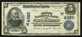 National Bank Notes:Wyoming, Rawlins, WY - $5 1902 Plain Back Fr. 601 The First NB Ch. #(W)4320. ...