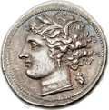 Ancients:Greek, Ancients: SICILY. Syracuse. Fifth Democracy (ca. 214-212 BC). AR 8litrae (24mm, 6.76 gm, 4h). ...