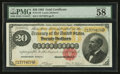 Large Size:Gold Certificates, Fr. 1178 $20 1882 Gold Certificate PMG Choice About Unc 58 EPQ.. ...