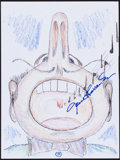 Movie/TV Memorabilia:Original Art, Jane Alexander. Doodle for Hunger. Crayon on Paper. 8.5 x 11Inches. Estimate: $100-$300. Condition: Fine. ...