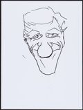 Movie/TV Memorabilia:Original Art, Dick Van Dyke. Doodle for Hunger. Ink on Paper. Not Signed.9 x 12 Inches. Estimate: $100-$300. Condition: Fine. ...