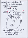 Movie/TV Memorabilia:Original Art, Richard Lewis. Doodle for Hunger. Marker on Paper. 9 x 12Inches. Estimate: $100-$300. Condition: Fine. ...