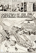 "Original Comic Art:Splash Pages, Jack Kirby and Dick Ayers Strange Tales #103 Human Torch""Prisoner of the 5th Dimension"" Title Page 1 Original Art..."