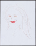 Movie/TV Memorabilia:Original Art, Gigi Rice. Doodle for Hunger. Crayon Paper. 9 x 12 Inches. Estimate: $100-$300. Condition: Fine. ...