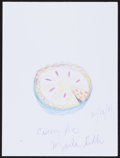 Movie/TV Memorabilia:Original Art, Marla Gibbs. Doodle for Hunger. Crayon and Ink on Paper. 8.5 x 11 Inches. Estimate: $100-$300. Condition: Fine. ...