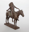Sculpture, CYRUS EDWIN DALLIN (American, 1861-1944). Appeal to the Great Spirit, 1913. Bronze with brown patina. 21-3/4 inches (55....