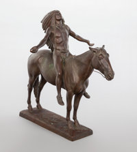 CYRUS EDWIN DALLIN (American, 1861-1944) Appeal to the Great Spirit, 1913 Bronze with brown patina