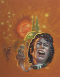 Pulp, Pulp-like, Digests, and Paperback Art, FRANK KELLY FREAS (American, 1922-2005). Falling Toward Forever,paperback cover. Acrylic on board. 15.25 x 12 in. (imag...