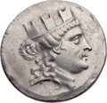 Ancients:Greek, Ancients: IONIA. Smyrna. Ca. 155-145 BC. AR tetradrachm (35mm,16.84 gm, 12h)....