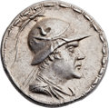 Ancients:Greek, Ancients: GRECO-BACTRIAN KINGDOM. Eucratides I the Great (ca.170-145 BC). AR tetradrachm (31mm, 16.95 gm, 11h). Greek.,...