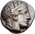 Ancients:Greek, Ancients: ATTICA. Athens. Ca. 454-404 BC. AR tetradrachm (23mm,16.87 gm, 8h).  ...