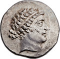 Ancients:Greek, Ancients: AEOLIS. Cyme. Ca. 155-145 BC. AR tetradrachm (30mm, 16.91gm, 11h). ...