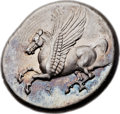 Ancients:Greek, Ancients: CORINTHIA. Corinth. Ca. 345-307 BC. AR stater (23mm, 8.55gm, 6h). ...