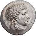 Ancients:Greek, Ancients: AEOLIS. Myrina. Ca. 155-145 BC. AR tetradrachm (34mm,16.82 gm, 12h). ...