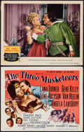 "Movie Posters:Swashbuckler, The Three Musketeers (MGM, 1948 & R-1956). Title Lobby Card & Lobby Card (11"" X 14""). Swashbuckler.. ... (Total: 2 Items)"