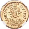 Ancients:Byzantine, Ancients: Anastasius I (AD 491-518). AV solidus (20mm, 4.46 gm, 7h)....