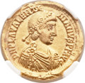 Ancients:Roman Imperial, Ancients: Valentinian III, Western Roman Emperor (425-455). AV solidus (21mm, 4.42 gm, 12h)....