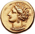 Ancients:Greek, Ancients: ZEUGITANIA. Carthage. Ca. 290-270 BC. EL stater (18mm,7.50 gm, 12h).  ...