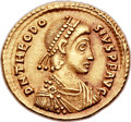 Ancients:Roman Imperial, Ancients: Theodosius I the Great (AD 379-395). AV solidus (21mm,4.36 gm, 11h)....