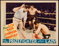 "Movie Posters:Romance, The Prizefighter and the Lady (MGM, 1933). Lobby Card (11"" X 14""). Romance.. ..."