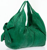 Valentino Green Python Large Hobo Bag