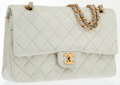 Luxury Accessories:Bags, Chanel Beige Quilted Lambskin Leather Medium Double Flap Bag withGold Hardware. ...