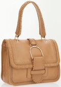 Luxury Accessories:Bags, Jimmy Choo Beige Leather Shoulder Bag with Embroidered Detail . ...