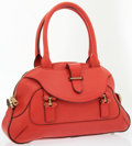 Luxury Accessories:Bags, Chloe Red Leather Shoulder Bag with Gold Hardware. ...