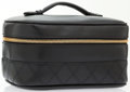 Luxury Accessories:Accessories, Chanel Black Lambskin Leather Travel Case Bag. ...