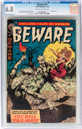 Golden Age (1938-1955):Horror, Beware #10 (Trojan/Prime, 1954) CGC FN+ 6.5 Off-white to whitepages....
