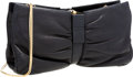 Luxury Accessories:Bags, Judith Leiber Black Leather Butterfly Clutch Bag with Gold ShoulderStrap. ...