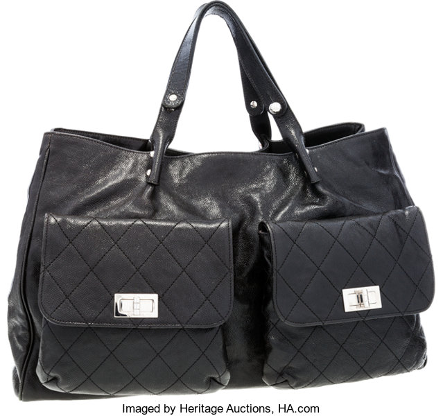 3a3ffae30185d Chanel Black Caviar Leather Large Tote Bag . ... Luxury Accessories ...
