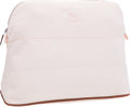 Luxury Accessories:Accessories, Hermes Pale Pink Canvas Bolide Toiletry Case. ...