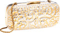 Luxury Accessories:Bags, Judith Leiber Gold Floral Minaudiere Evening Bag . ...