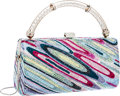 Luxury Accessories:Bags, Judith Leiber Full Bead Colorful Top Handle Minaudiere Evening Bag. ...