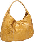 Luxury Accessories:Bags, Devi Kroell Metallic Gold Python Oversize Hobo Bag. ...