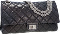 Luxury Accessories:Bags, Chanel Black Antiqued Quilted Lambskin Leather Maxi Double Flap Bagwith Gunmetal Hardware. ...
