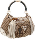 Luxury Accessories:Bags, Gucci Special Edition Classic Monogram Canvas, Alligator &Lizard Indy Bag . ...