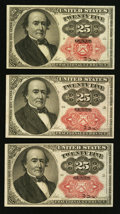 Fractional Currency:Fifth Issue, Fr. 1308 25¢ Fifth Issue. Fr. 1309 25¢ Fifth Issue Two Examples..... (Total: 3 notes)