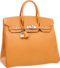 Luxury Accessories:Bags, Hermes 36cm Gold Chamonix Leather HAC Birkin Bag with Palladium Hardware . ...
