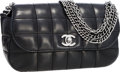 Luxury Accessories:Bags, Chanel Black Quilted Lambskin Leather Multi-Chain Flap Bag . ...