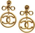 Luxury Accessories:Accessories, Chanel Large CC Logo Earrings. ...