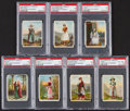 "Non-Sport Cards:Lots, 1912 T52 Helmar/Turkish Trophies ""Costumes & Scenery For AllCountries of The World"" PSA Graded Group (7). ..."