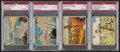 "Non-Sport Cards:Lots, 1941 R157 Gum Inc. ""Uncle Sam"" PSA Graded Group (4). ..."